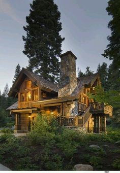 Smaller than a lodge, bigger than a cabin.  I think I could work with this.