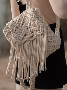 Crochet Backpack Pattern, Crochet Clutch, Macrame Purse, Macrame Knots, Weaving Wall Hanging, Diy Fashion Accessories, Diy Purse, Macrame Design, Diy Crafts For Gifts