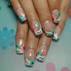 Nails Manicure And Pedicure, Pedicures, Hot Nail Designs, Hot Nails, French Nails, Spring Nails, Polymers, Palazzo, Amy