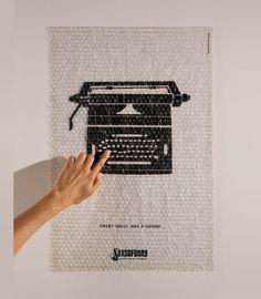 Typewriter - sound poster