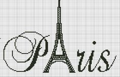 Lovely as an addition to our Paris scrapbook! Cross Stitch Charts, Cross Stitch Designs, Cross Stitch Patterns, Diy Embroidery, Cross Stitch Embroidery, Embroidery Patterns, Cross Stitch Silhouette, Filet Crochet, Cross Stitching