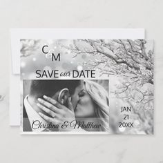 Winter Snowflakes Wedding SAVE OUR DATE   PHOTO Save The Date Christmas Wedding Invitations, Funny Wedding Invitations, Indian Wedding Receptions, Wedding Mandap, Rustic Wedding Save The Dates, Snowflake Wedding, Wedding Stage Decorations, Post Wedding, Wedding Ideas