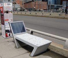 Billedresultat for solar benches