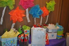 Dr. Seuss baby shower: trees