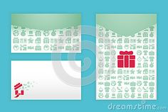 Modern soft color envelope design with icon shopping by Ponsuwan, via Dreamstime