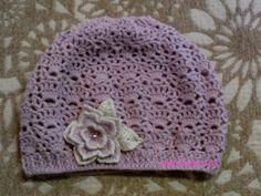 virkattu baskeri - crochet beret