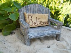 Fairy Bench with Believe Pillow