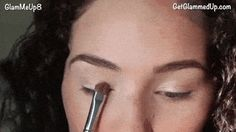 Use small patting and dabbing motions to apply your all-over shadow color.