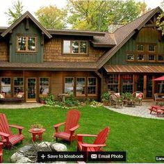 House Design Rustic Exterior Colors Ideas For 2019 Cottage Exterior Colors, Exterior Paint Colors For House, Paint Colors For Home, Paint Colours, Design Exterior, Rustic Exterior, Roof Design, Design Design, Exterior Siding