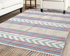 Handmade Rug / Carpet / Vintage Kantha Quilts by IndianWomensCrafts Dhurrie Rugs, Kilim Rugs, Crochet Carpet, Star Rug, Indian Rugs, Rustic Rugs, Kantha Quilt, Large Rugs, Rugs On Carpet