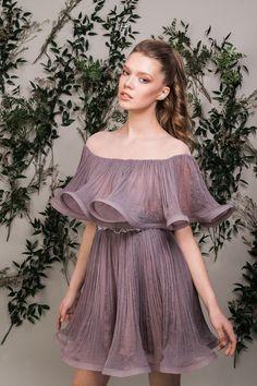 Ruffle Dress, Ruffles, Purple Shorts, Lavender, Shoulder Dress, Couture, Silk, Dresses, Fashion
