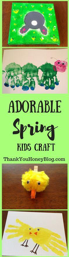 Adorable Spring Kids Craft. Click through & PIN IT! Follow Us on Pinterest + Subscribe to ThankYouHoneyBlog{dot}com, Spring, Crafts, Tutorials, Kids, Adorable Spring Kids Crafts, Spring Holiday Crafts, Easter Crafts, St. Patrick's Day Crafts, Kids Crafts, Activities
