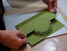 Tutorial: How to cut a Nestablity die on the fold of a card.