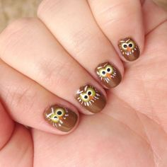 The Fox and the Hound-Inspired Owl Nails