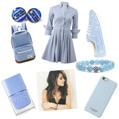 Baby blue.. by nansylee on Polyvore featuring polyvore, fashion, style, Michael Kors, Lipsy, Herschel Supply Co., Lagos, Isaac Mizrahi and Nails Inc.