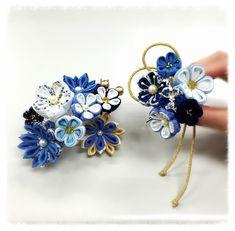 Cloth Flowers, Diy Flowers, Crochet Flowers, Fabric Flowers, Ribbon Art, Fabric Ribbon, Ribbon Crafts, Denim Crafts, Kanzashi Flowers