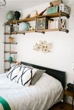 DIY Bedroom Shelves above Bed | Versatile Bedroom Decor: Shelves Above the Bed | Apartment Therapy