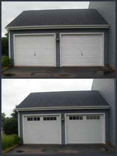 Before U0026 After Garage Doors   New V5 Thermacore Collection With Stockbridge  2 4 Lite Windows