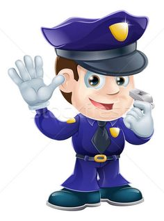 Buy Policeman Character Cartoon Illustration by Krisdog on GraphicRiver. A cute police man character holding a whistle and waving or doing a stop gesture Android Music, Man Character, Kid Styles, Royalty Free Images, Adobe Illustrator, Vector Art, Smurfs, Quilt Patterns, Art For Kids