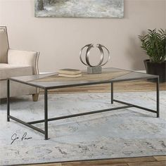 Uttermost Oberon Black Iron Coffee Table (24533)