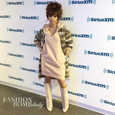 @KeyshiaCole was super swaggy in @givenchyofficial boots during her press day at @siriusxm. Styled by @zellswag. Hot! Or Hmm..? #instafashion #style #instastyle #fashionbombdaily #celebritystyle #fashion #Givenchy #KeyshiaCole #Zellswag