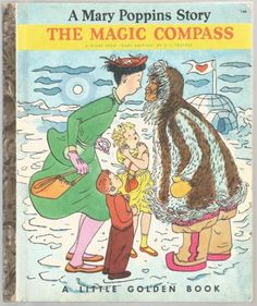 Mary-Poppins-THE-MAGIC-COMPASS-Little-Golden-Book-1st-Ed