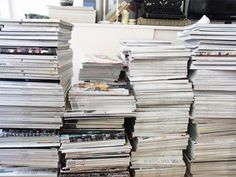 actually have magazine stacks like these at home.