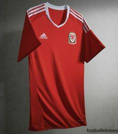 aaf59979cd00b New Wales Football Shirt Euro Welsh Home Jersey by Adidas.