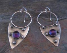 Amethyst Armor Earrings