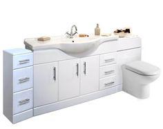 VeeBath Linx Vanity Bathroom Furniture Set and WC Toilet Unit Pan Cistern Fitted Bathroom Furniture, Furniture Vanity, Utah, Chair Parts, Basin Cabinet, Vanity Basin, Grey Bathrooms, Shower Enclosure, Colorful Furniture
