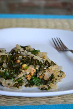 Crunchy Peanut Butter Spinach  {gf, vegan}