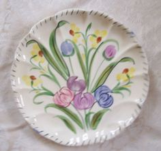 "Vintage Blue Ridge Easter Parade Plate Scalloped Piecrust Edge 9.5"" EUC $7.99 [ 0 bids]"