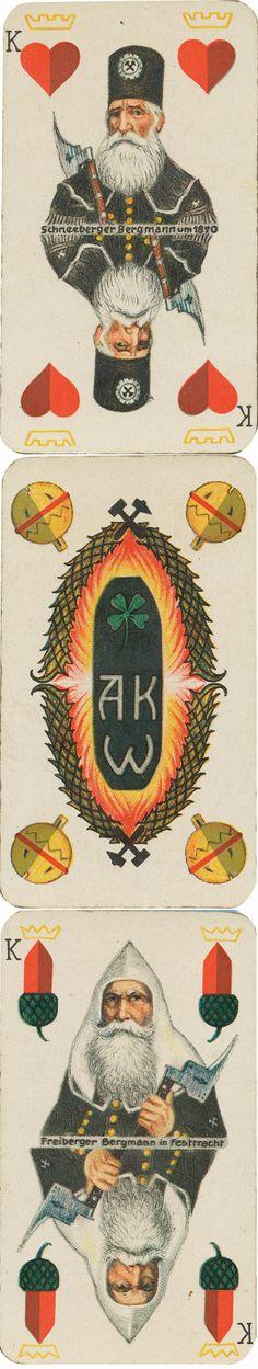 Berg Bau Karte, Skat deck, 1920. Anhaltische Kohlenwerke - Werschen Weissenfelser Braunkohlen A-G. Halle a/S. Wolfthings private collection.