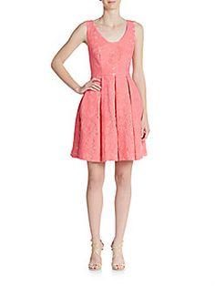 Floral Jacquard A-Line Dress - SaksOff5th