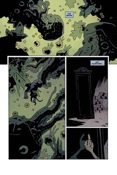 Hellboy in Hell #4 page by Mike Mignola