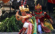 Barong dance drama with graceful intricate movements