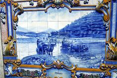 Hand-painted tiles, Pinhão, Douro Valley Portugal