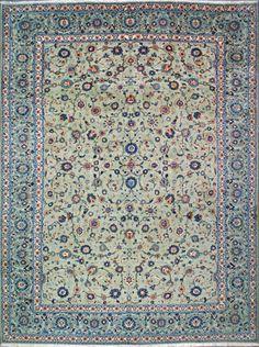 "Buy Kashan Persian Rug 9' 10"" x 13' 3"", Authentic Kashan Handmade Rug"