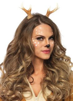 Step aside Bambi. You'll be everyone's favorite deer this Halloween when you add our Fawn Horn Headband to your sexy costume. Deer Halloween Makeup, Deer Halloween Costumes, Reindeer Costume, Reindeer Makeup, Couple Halloween, Halloween Ideas, Halloween Customs, Rustic Halloween, Halloween Scarecrow