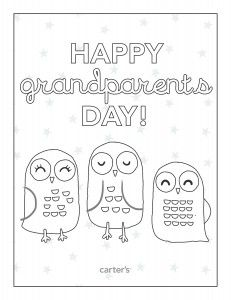 Free Printable Grandparents Day Coloring Pages from Carter's - Raining Hot Coupons