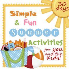 30 Simple & Fun Summer Activities  welovebeingmoms.blogspot.com  #summer fun #kids