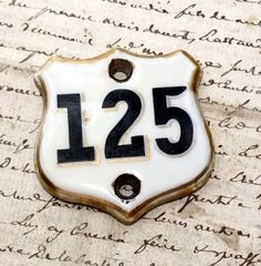 Antique French Hotel Room Porcelain Number Plaque - traditional - accessories and decor - French Garden House