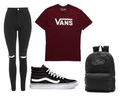 A fashion look from December 2015 featuring Vans t-shirts, Topshop jeans and Vans sneakers. Browse and shop related looks. Vans Outfit Girls, White Vans Outfit, Teenage Girl Outfits, Teenager Outfits, Teen Fashion Outfits, Outfits For Teens, New Outfits, Disney Outfits, Fashion Clothes