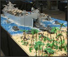 WW II LEGO Battle Scene