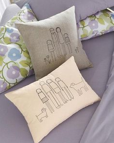 I will master embroidery so that I can make this family pillow...