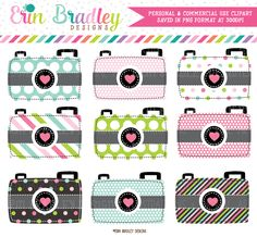 Colorful Cameras Clipart – Commercial Use OK
