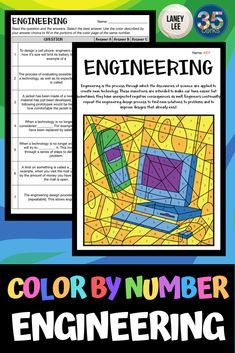 Engineering - Color By Number - science Science Videos, Stem Science, Science Resources, Earth Science, Teaching Resources, Teaching Science, Third Grade Science, Middle School Science, Engineering Design Process