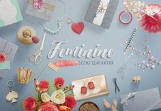 Feminine — Mockup Scene Generator by LStore on @creativemarket