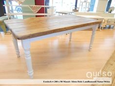 Handmade dining tables made of solid wood. From our own carpentry, also in Sondermaßanfertigungen up to 300 cm long! Pamplona, Plank Table, Wood Planks, Old Wood, Carpentry, Inspiration, Handmade, Dining Tables, Furniture