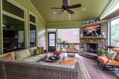 Add A Screen Porch with Fireplace-Alpharetta | AD&B